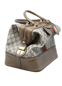Gucci Vintage Monogram Canvas Doctors Bag 1
