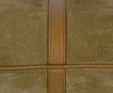 Gucci Neutral Tan Suede Leather Trim Bamboo Vintage Jackie O Shoulder Bag Handbag 12