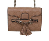 Gucci Neutral Leather Crossbody Handbag 6