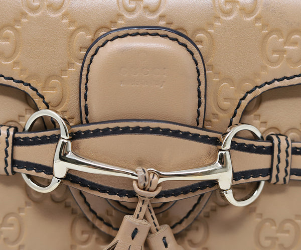 Gucci Neutral Leather Crossbody Handbag 10