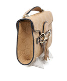 Gucci Neutral Leather Crossbody Handbag 1
