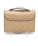 Gucci Neutral Leather Crossbody Handbag 2