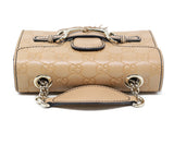 Gucci Neutral Leather Crossbody Handbag 4