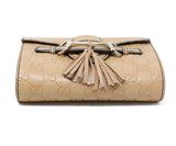 Gucci Neutral Leather Crossbody Handbag 3