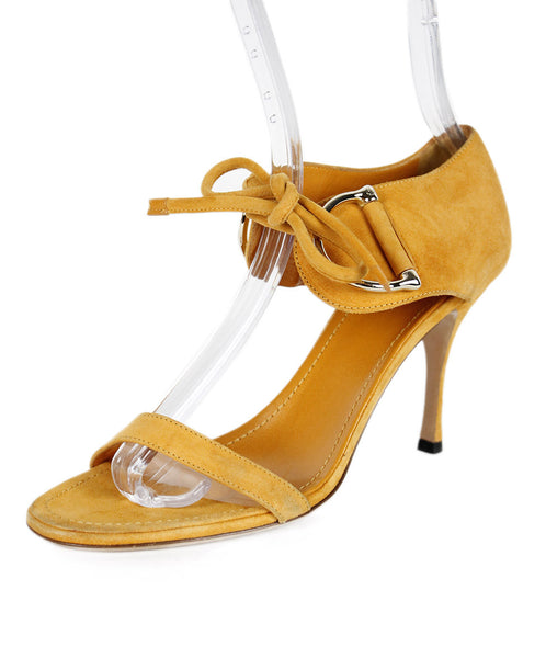 Gucci Orange Suede Strappy Shoes Sz 38