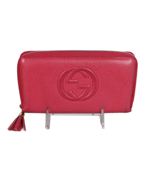 Gucci Pink Leather Wallet 1
