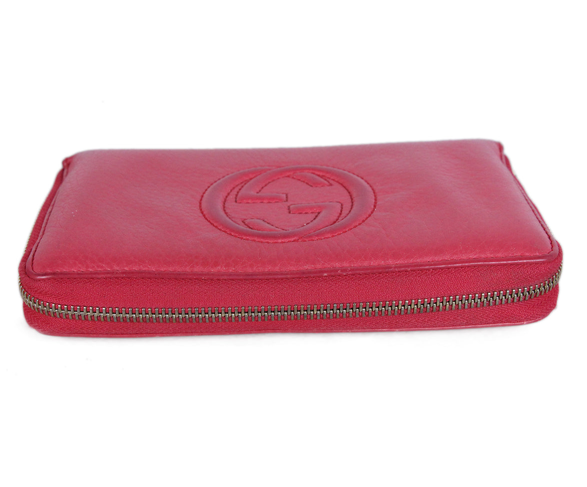 Gucci Pink Leather Wallet 5