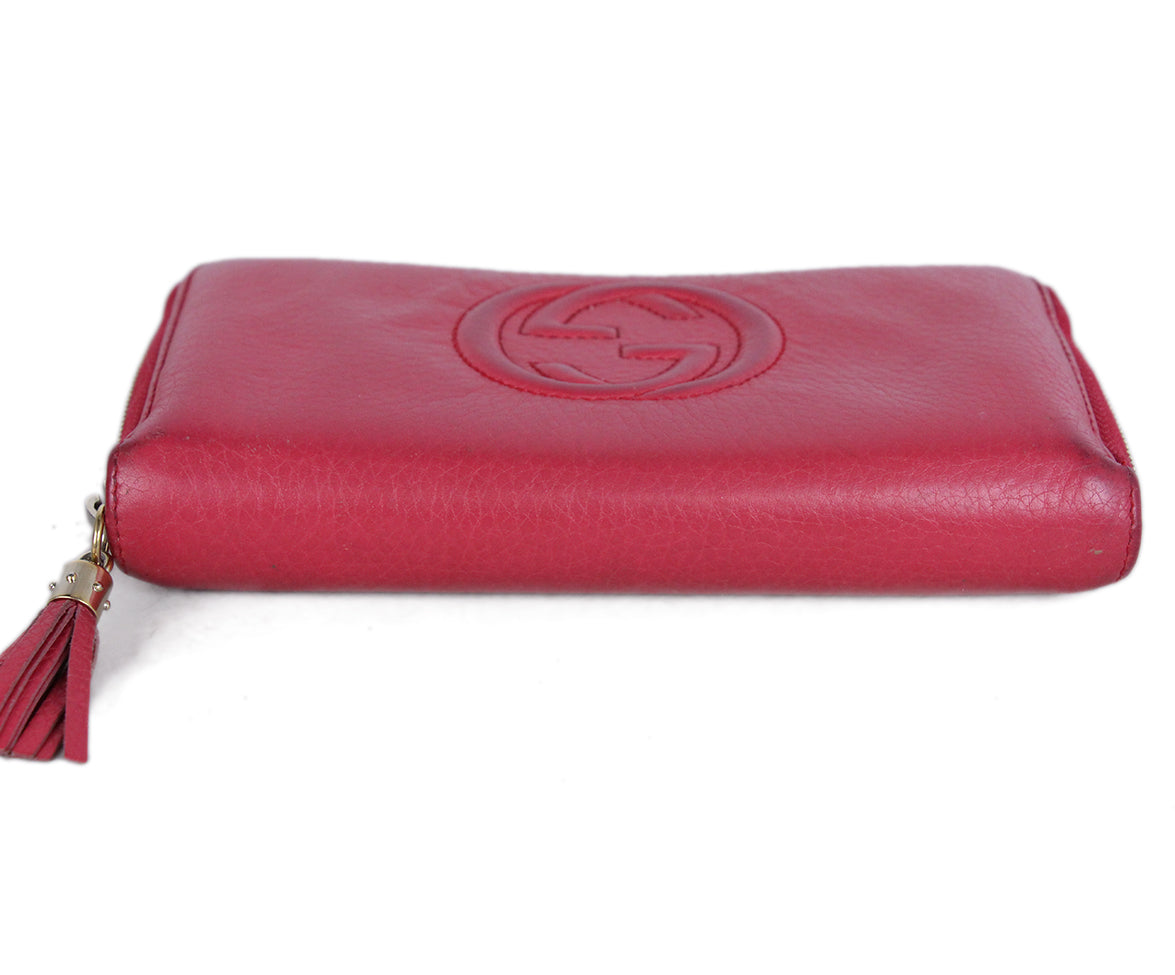 Gucci Pink Leather Wallet 4