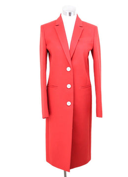 Gucci Red Wool Angora Coat