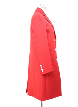 Gucci Red Wool Angora Coat Sz 2