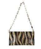 Gucci Brown Beige Print Snake Skin Gold Trim Handbag 3
