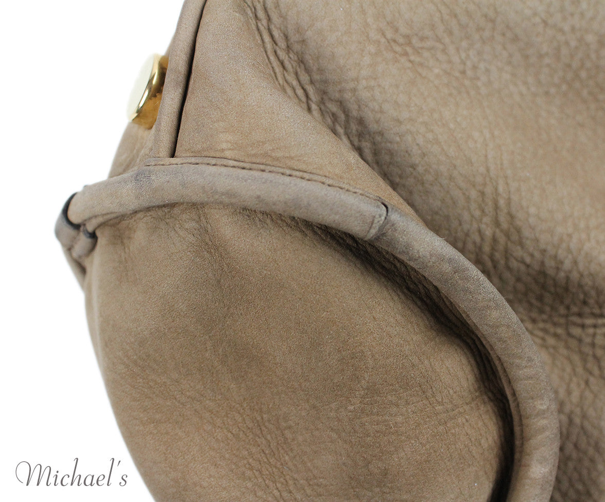 Gucci Taupe Brown Suede Snake Skin Bag - Michael's Consignment NYC  - 11
