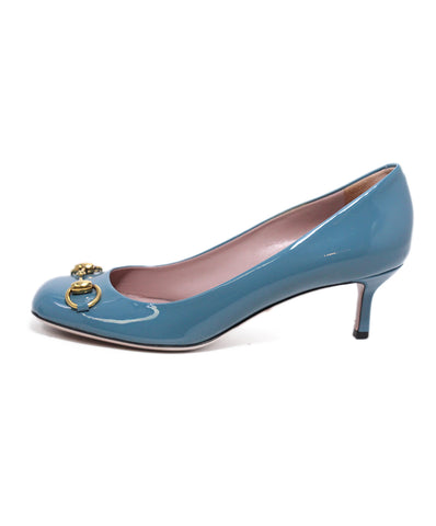 Gucci Teal Patent Leather Heels 1