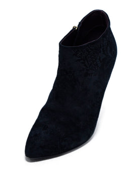 Gucci Black Floral Suede Booties 1