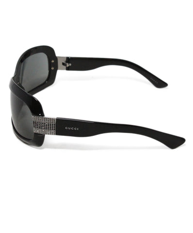 Gucci Black Frame Rhinestone Trim Sunglasses 1