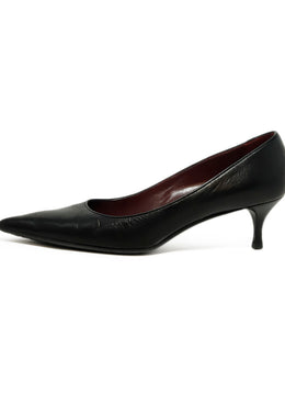 Gucci Black Leather Pointed Toe Heels 2