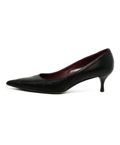 Gucci Black Leather Pointed Toe Heels 1