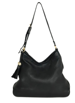 Gucci Black Leather Shoulder Bag Handbag 2