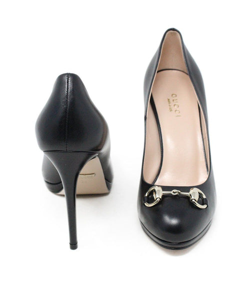 Gucci Black Leather Heels Size 6.5
