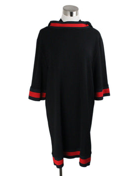 Pantsuit 2pc Gucci Black Trim Red Viscose Polyester Spandex Suit 3