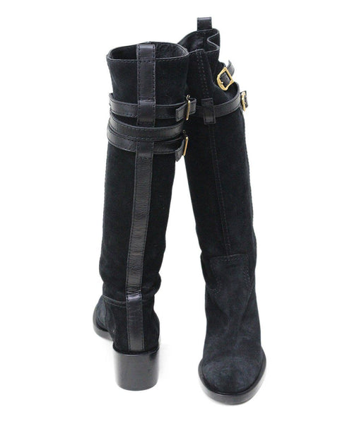 Gucci black Suede Knee High Boots Sz 6