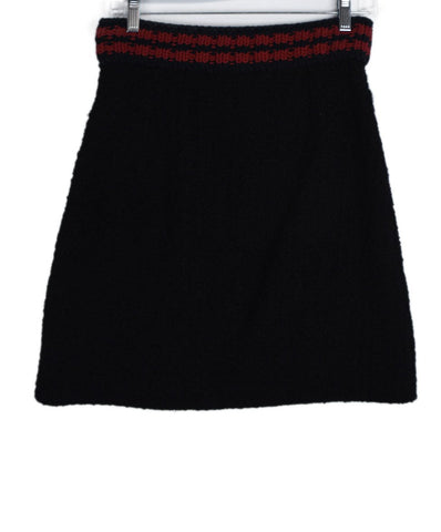 Gucci Blue Navy Red Polyamide Cotton Skirt 1
