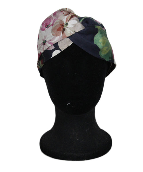 Gucci blue navy white floral headband 1