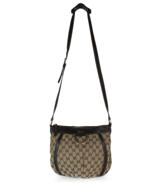 Gucci brown beige monogram crossbody 1