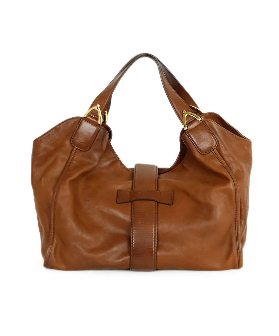 Gucci Brown Leather Hobo Handbag 3