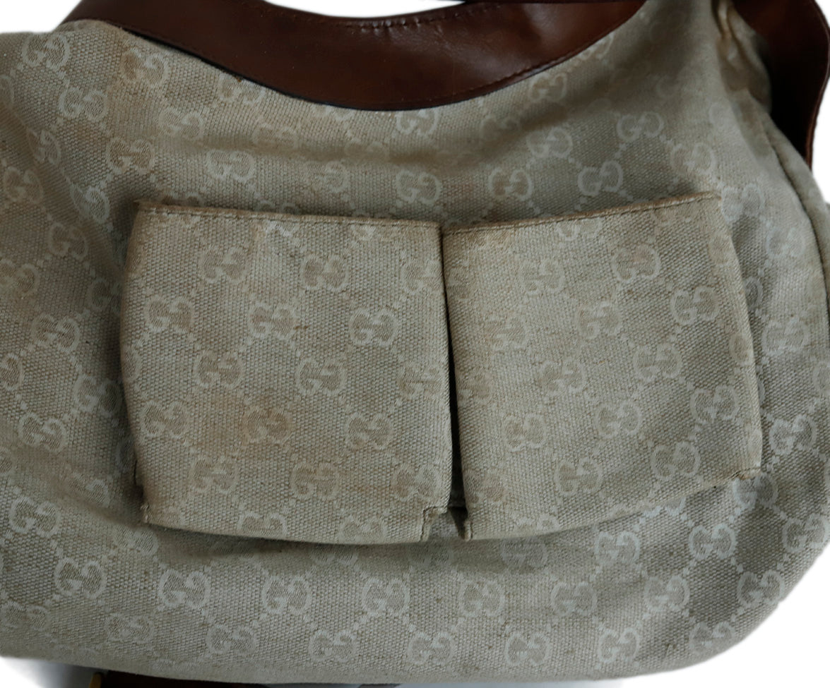 Gucci Brown Leather Hobo Handbag 7