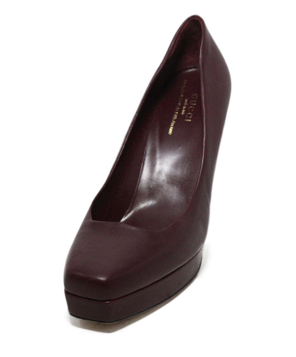 Gucci burgundy leather heels 1