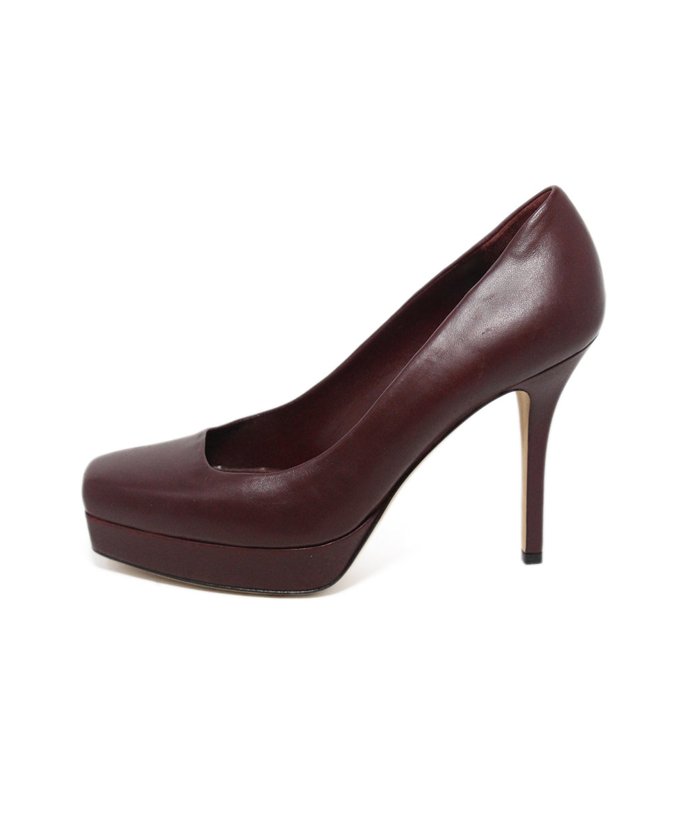 Gucci burgundy leather heels 2
