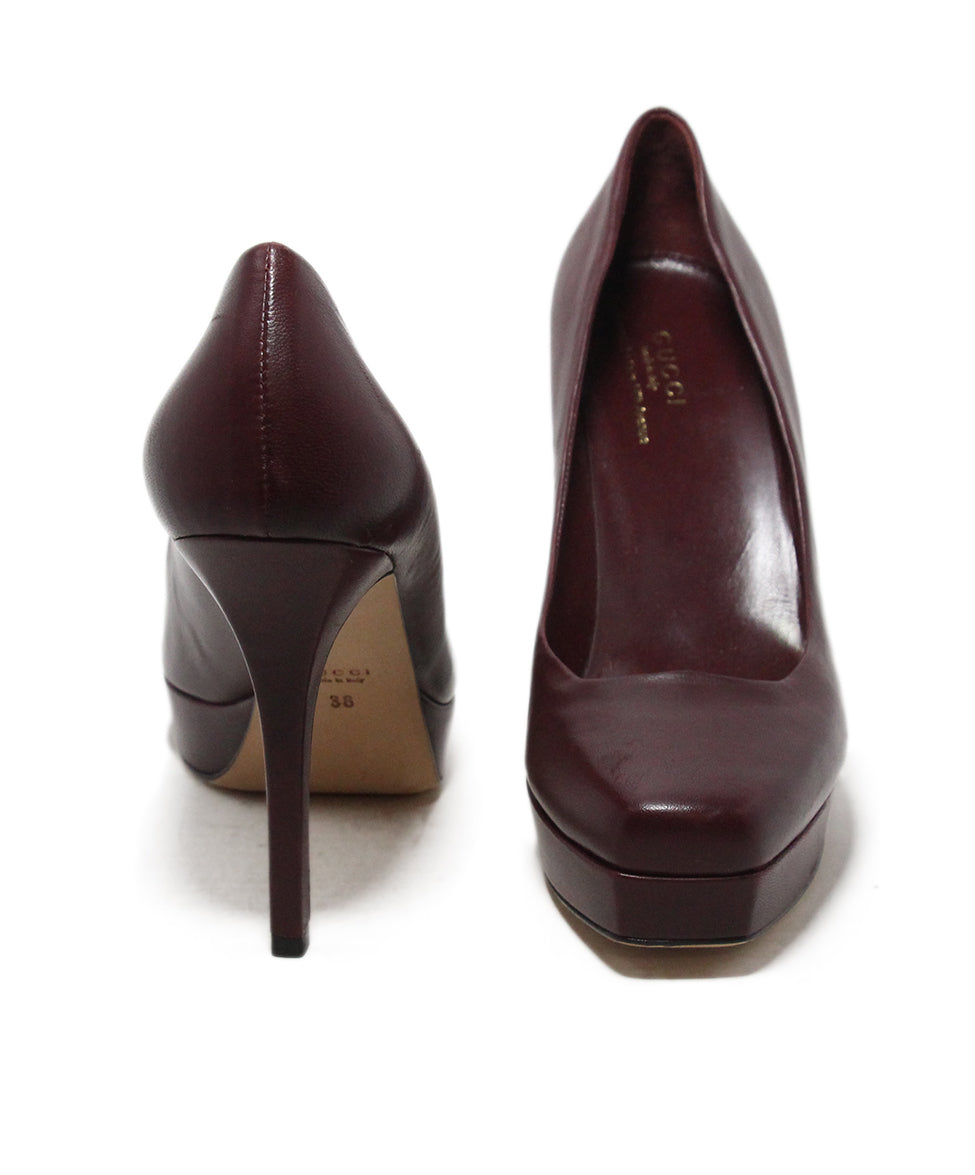 Gucci burgundy leather heels 3