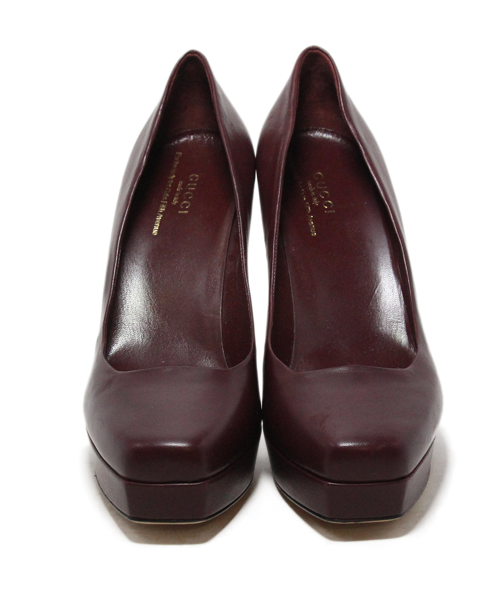 Gucci burgundy leather heels 4