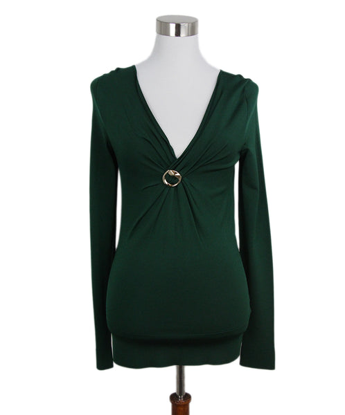 Gucci green gold trim top 1