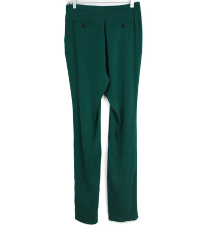Gucci green silk pants 1