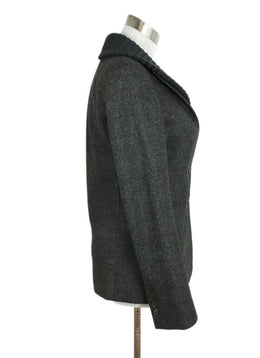 Gucci Grey Charcoal Wool Ribbed Trim Jacket 2