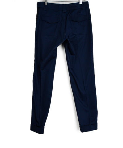 Gucci Navy Cotton Black Trim Pants 1