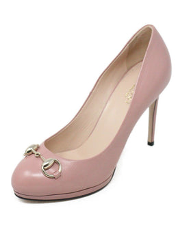Gucci Pink Leather Heels Size 6.5
