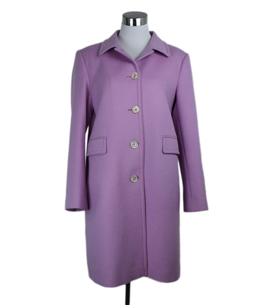 Coat Gucci Pink Lilac Wool Outerwear 1