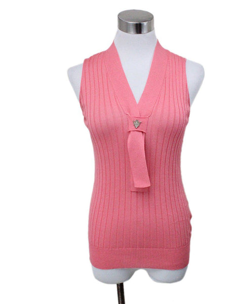 Gucci Pink Knit Ribbed Top