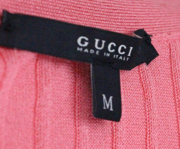 Gucci Pink Knit Ribbed Top 3