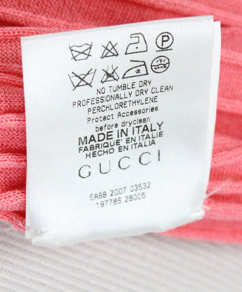 Gucci Pink Knit Ribbed Top sz 4