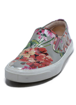 Gucci Slip-On Floral Leather Sneakers sz. 41.5 | Gucci
