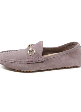 Gucci Purple Pale Suede Loafers Sz 40