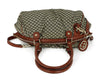 Gucci Red Burgundy Leather Canvas