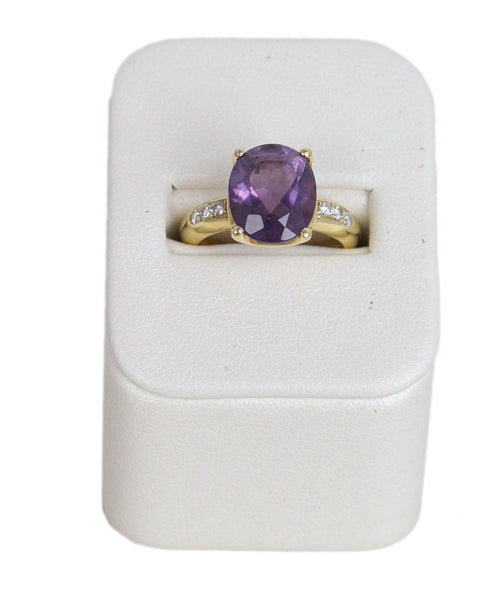 H. Stern 18K Gold Amethyst Diamond ring 1
