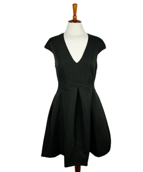 Halston Black Polyester Dress Sz 8