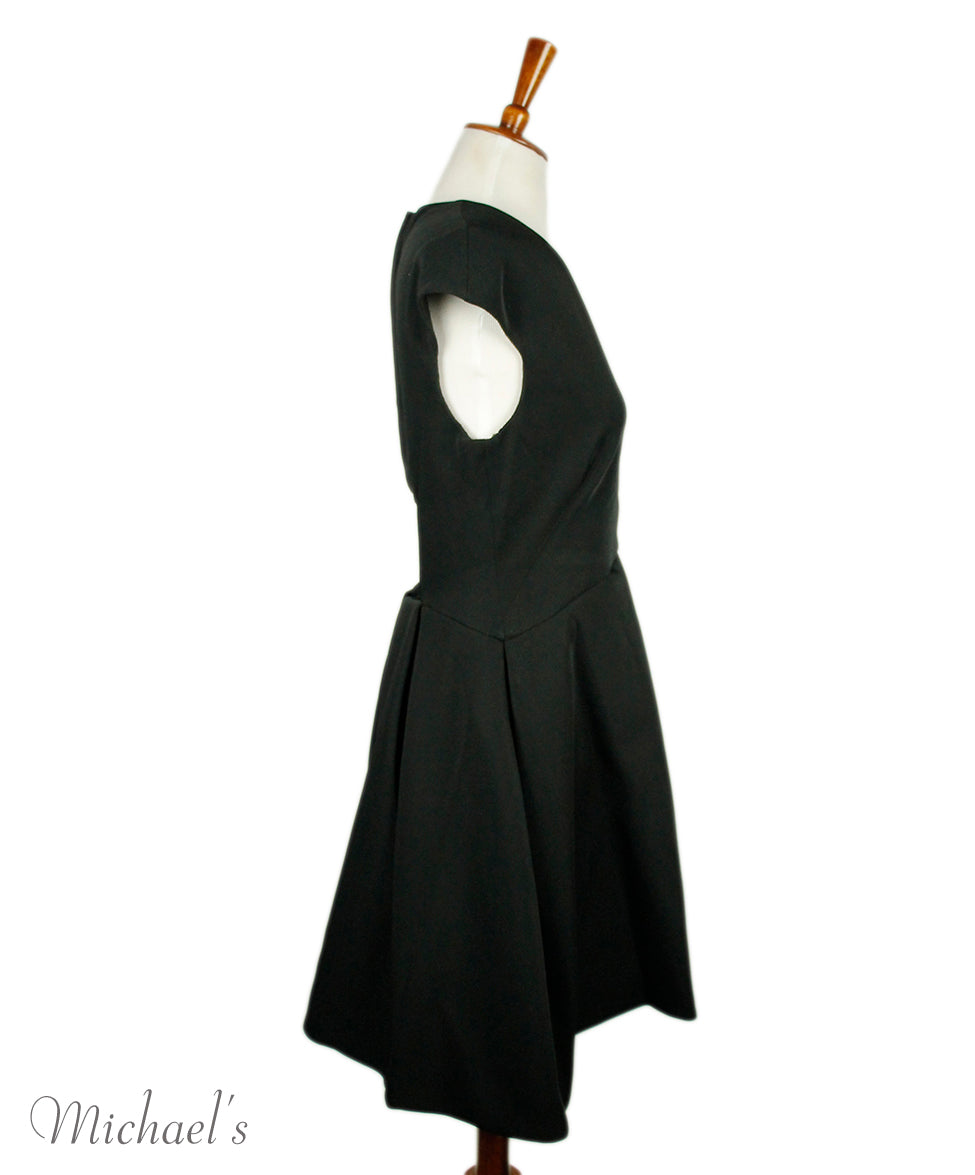 Halston black and white dress