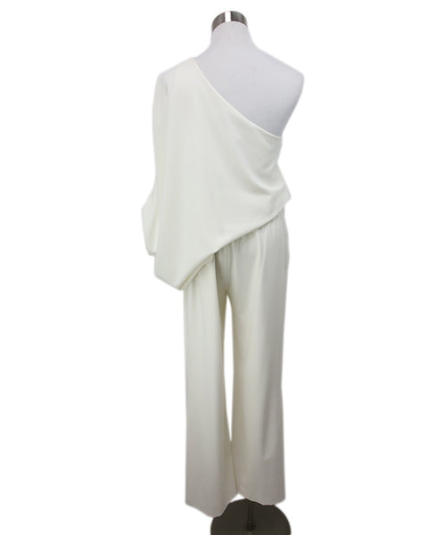 Halston Cream Jumpsuit with Off the shoulder detail 3